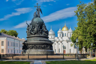 "Monument ""Millennium of Russia"" in Veliky Novgorod"